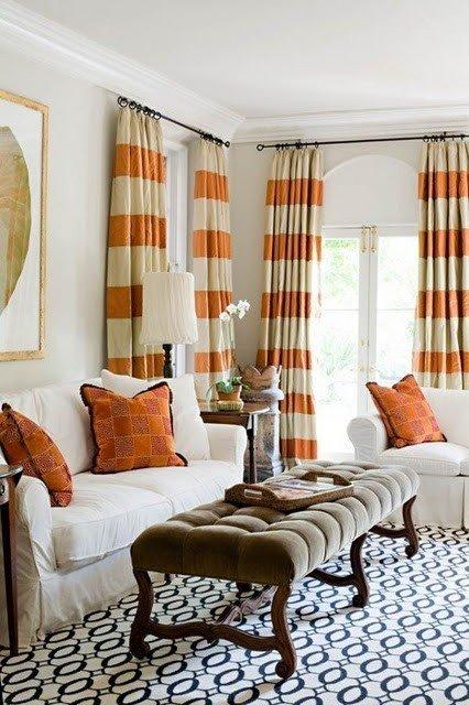 Фотография: Гостиная в стиле Прованс и Кантри, Классический, Современный, Декор интерьера, Дизайн интерьера, Цвет в интерьере, Оранжевый – фото на INMYROOM