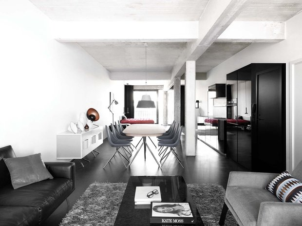 Фотография: Гостиная в стиле Лофт, Современный, Декор интерьера, Дом, BoConcept, Мебель и свет, Индустрия, События, Тема месяца – фото на INMYROOM