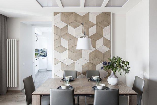 Фотография: Кухня и столовая в стиле Современный, Ремонт на практике, ламинат, ламинат на полу, ламинат на стене – фото на INMYROOM