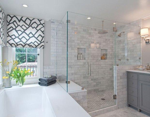 Фотография: Ванная в стиле Скандинавский, Советы, стекло в интерьере – фото на INMYROOM