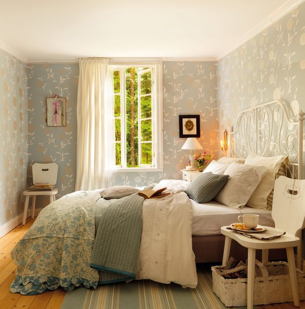Фотография: Спальня в стиле Прованс и Кантри, Дом, Дома и квартиры, IKEA, Проект недели, Дача – фото на InMyRoom.ru