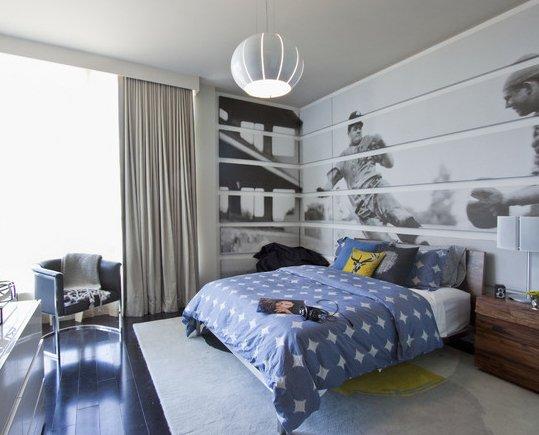 Фотография: Спальня в стиле Современный, Декор интерьера, Декор дома, Цвет в интерьере, Обои – фото на InMyRoom.ru