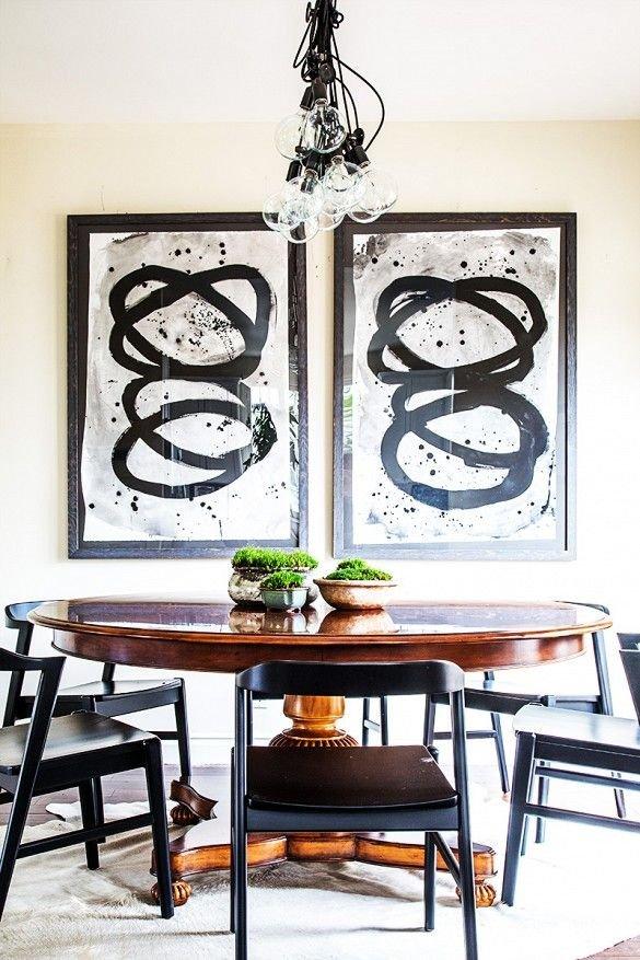 Фотография: Кухня и столовая в стиле Скандинавский, Декор интерьера, Декор, абстрактная живописть в интерьере, абстрактное искусство в интерьере – фото на INMYROOM
