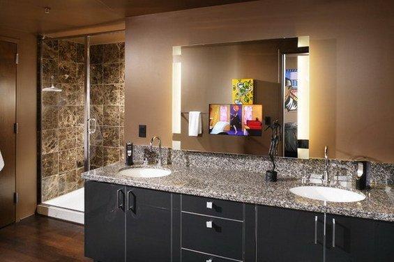 Фотография: Ванная в стиле Современный, Декор интерьера, Мебель и свет, Светильник – фото на InMyRoom.ru