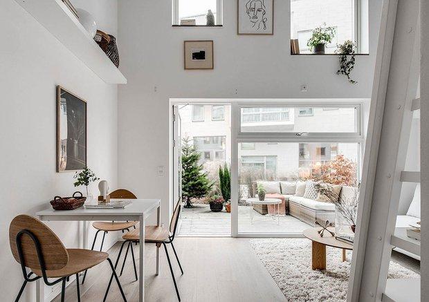 Фотография: Кухня и столовая в стиле Скандинавский, Декор интерьера, Квартира, Белый, Минимализм, Бежевый, до 40 метров – фото на INMYROOM