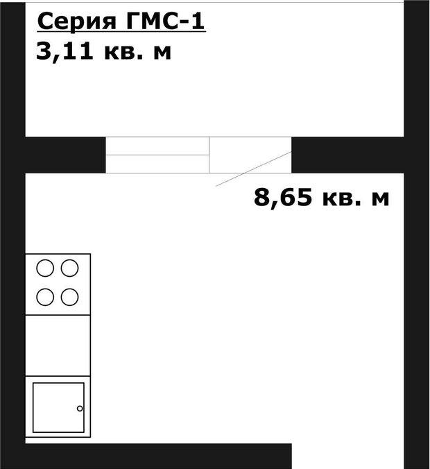 Фотография: Планировки в стиле , Кухня и столовая, Перепланировка, И-155МК, Анастасия Киселева, Максим Джураев, ГМС-1 – фото на INMYROOM