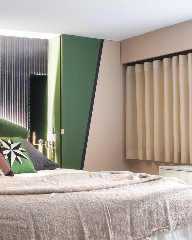 Фотография: Спальня в стиле Современный, Гостиная, Эклектика, Декор интерьера, Франция, Зеленый, Желтый, Коричневый, Лион, Клод Картье – фото на INMYROOM