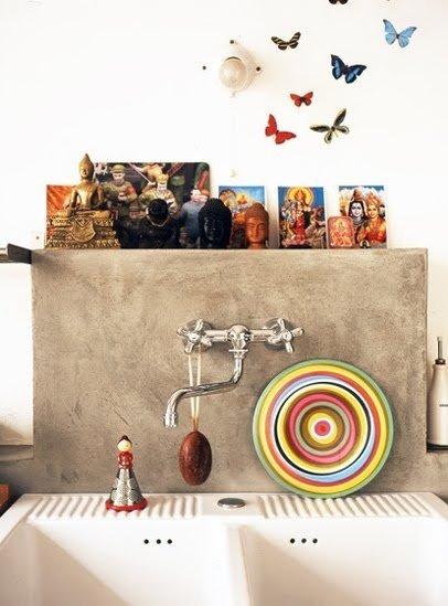 Фотография: Декор в стиле Восточный, Кухня и столовая, Декор интерьера, Дом, Декор дома, Плитка, Мозаика, Кухонный фартук – фото на INMYROOM