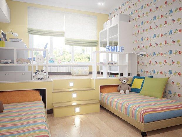 Фотография: Детская в стиле Современный, Квартира, Советы, Даша Ухлинова, как обустроить детскую в однушке, детская в однокомнатной квартире – фото на InMyRoom.ru