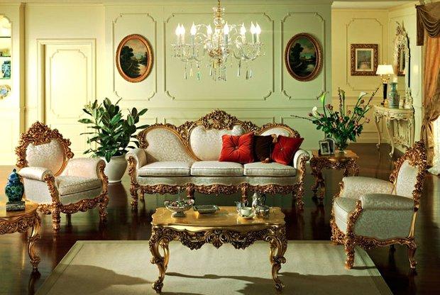 Фотография: Гостиная в стиле , Классический, Дизайн интерьера, Викторианский, Ампир – фото на InMyRoom.ru
