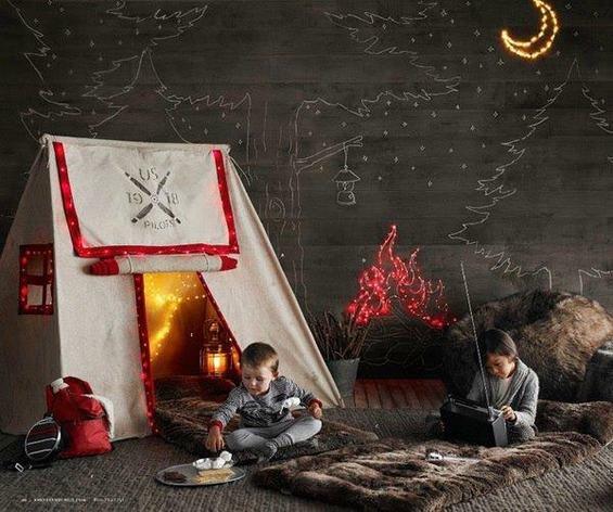 Фотография: Спальня в стиле Эклектика, Детская, Интерьер комнат – фото на INMYROOM