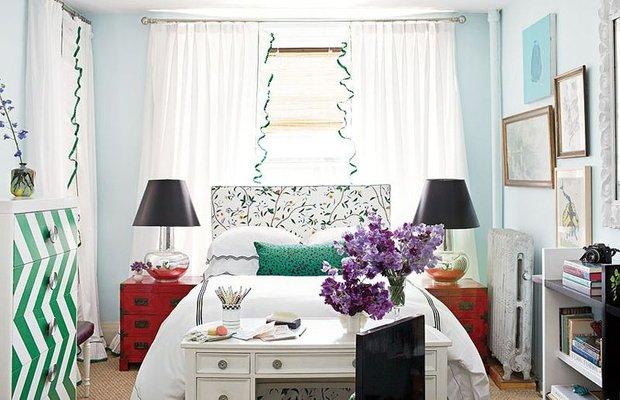 Фотография: Спальня в стиле Эклектика, Интерьер комнат, Хрущевка – фото на INMYROOM