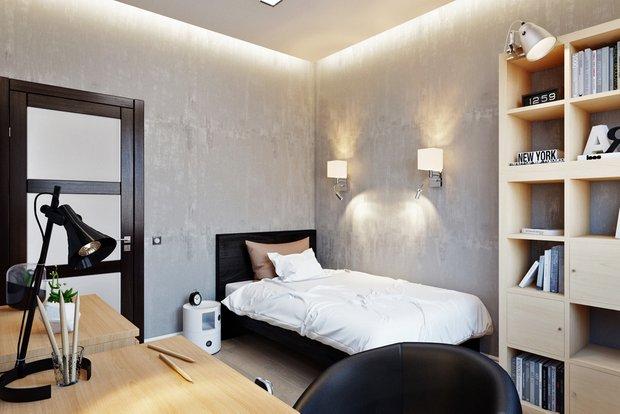 Фотография: Спальня в стиле Лофт, Квартира, Проект недели – фото на INMYROOM