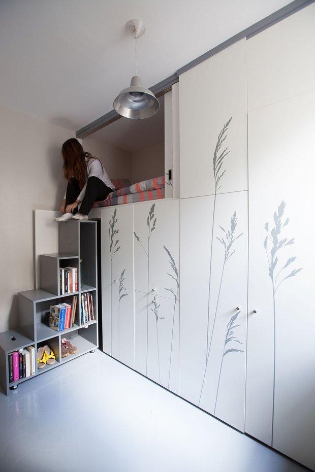 Фотография: Спальня в стиле Современный, Эко, Малогабаритная квартира, Студия, Белый – фото на INMYROOM