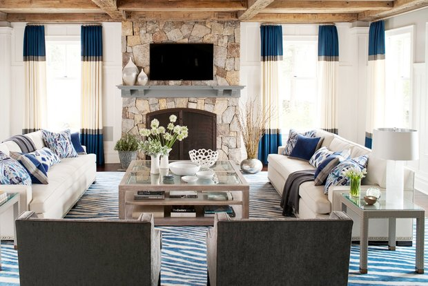 Фотография: Гостиная в стиле Прованс и Кантри, Декор интерьера, Текстиль, Шторы – фото на INMYROOM