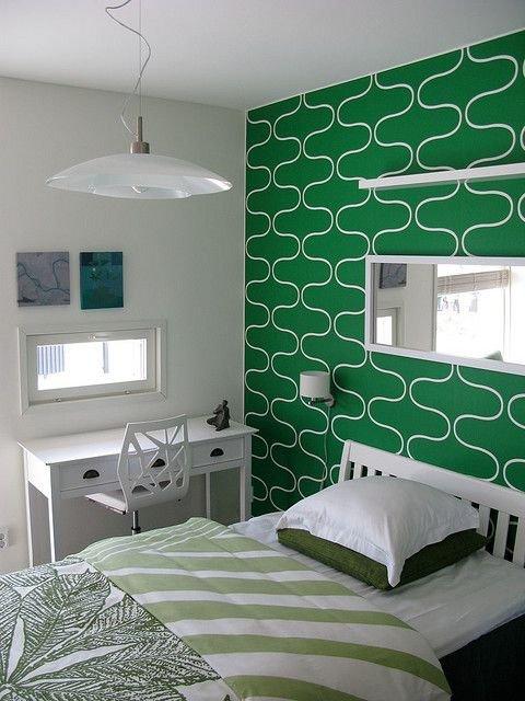 Фотография: Спальня в стиле Современный, Индустрия, Новости, Обои, Геометрия в интерьере – фото на InMyRoom.ru