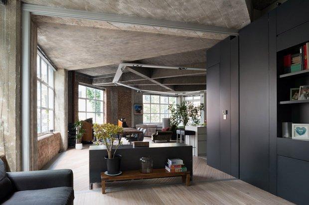 Фотография: Гостиная в стиле Современный, Лофт, Квартира, Дома и квартиры, Проект недели – фото на INMYROOM