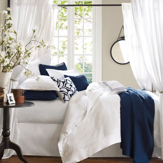 Фотография: Спальня в стиле Скандинавский, Декор интерьера, Декор, Белый, Зеленый, Бежевый, Синий, Голубой, Оранжевый, Бирюзовый – фото на INMYROOM