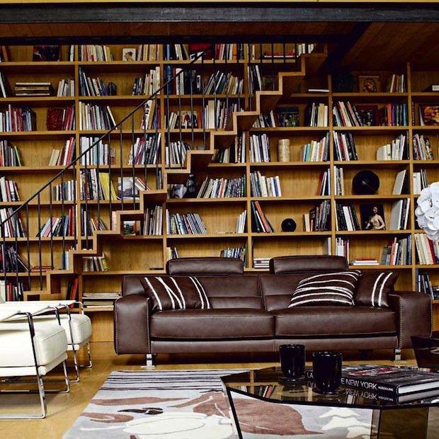 Фотография: Гостиная в стиле Современный, Декор интерьера, Декор дома, Библиотека – фото на INMYROOM