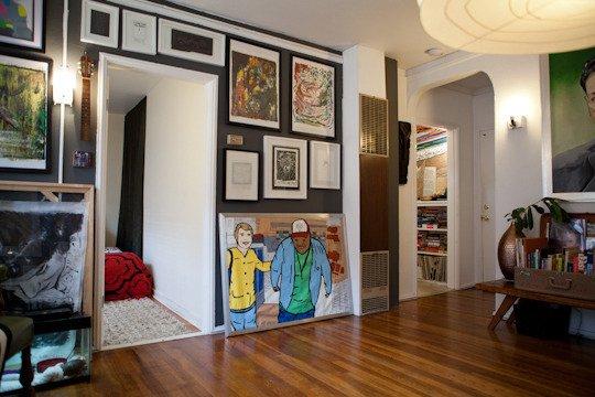 Фотография: Гостиная в стиле Современный, Декор интерьера, Квартира, Дома и квартиры, Стены, Картины, Современное искусство – фото на INMYROOM
