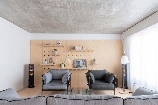 Фотография: Гостиная в стиле Минимализм, Современный, Декор интерьера, Квартира, Франция, Париж, 4 и больше, Более 90 метров – фото на INMYROOM