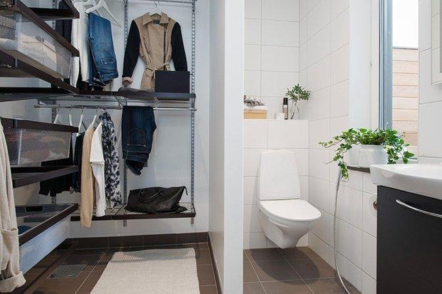 Фотография: Ванная в стиле Скандинавский, Квартира, Дома и квартиры, Стокгольм – фото на INMYROOM