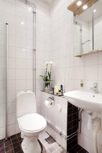 Фотография: Ванная в стиле Современный, Гостиная, Классический, Малогабаритная квартира, Квартира, Дома и квартиры, Стокгольм – фото на INMYROOM