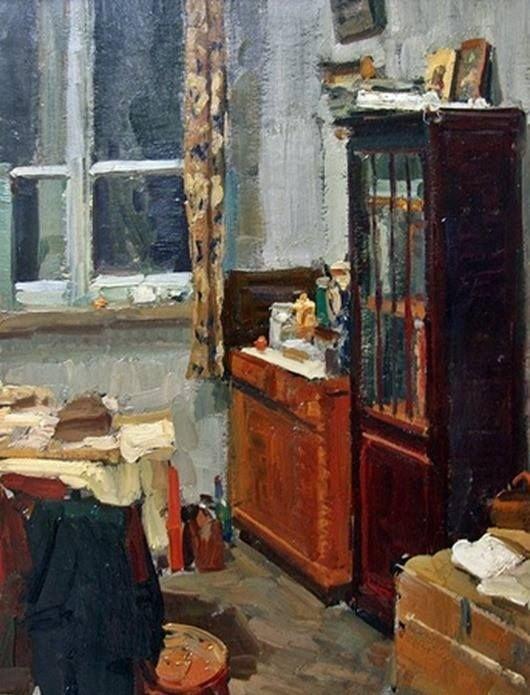 Кугач Юрий Петрович (Россия, 1918) «Угол мастерской художника» 1956
