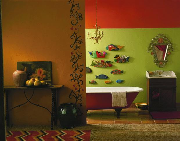 Фотография: Ванная в стиле Эклектика, Декор интерьера, Дизайн интерьера, Цвет в интерьере, Dulux – фото на INMYROOM