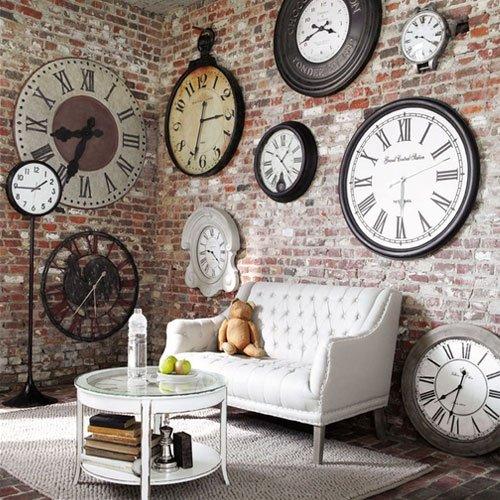 Фотография: Гостиная в стиле Прованс и Кантри, Лофт, Современный, Декор интерьера, Часы, Декор дома – фото на INMYROOM