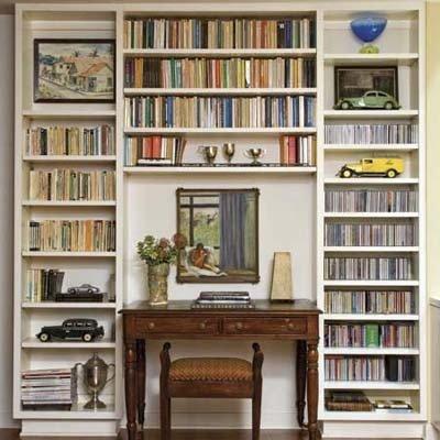 Фотография: Декор в стиле Прованс и Кантри, Кабинет, Интерьер комнат, Системы хранения – фото на INMYROOM