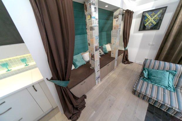 Фотография: Гостиная в стиле Современный, Интерьер комнат, Дача, Дачный ответ, Мансарда – фото на INMYROOM