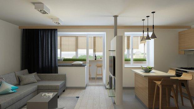 Фотография: Гостиная в стиле Современный, Эко, Балкон, Квартира, Советы – фото на INMYROOM