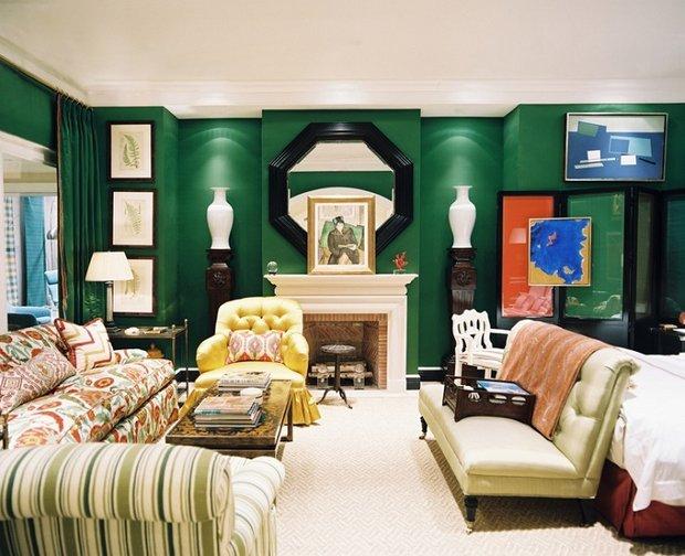 Фотография: Гостиная в стиле Современный, Эклектика, Декор интерьера, Дизайн интерьера, Цвет в интерьере – фото на INMYROOM