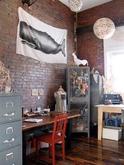 Фотография: Кабинет в стиле Лофт, Интерьер комнат – фото на INMYROOM