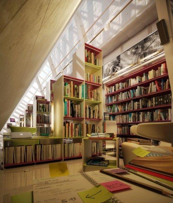 Фотография:  в стиле Современный, Системы хранения, Библиотека, Домашняя библиотека – фото на InMyRoom.ru