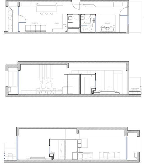 Фотография: Планировки в стиле , Современный, Малогабаритная квартира, Квартира, Италия, Дома и квартиры – фото на INMYROOM