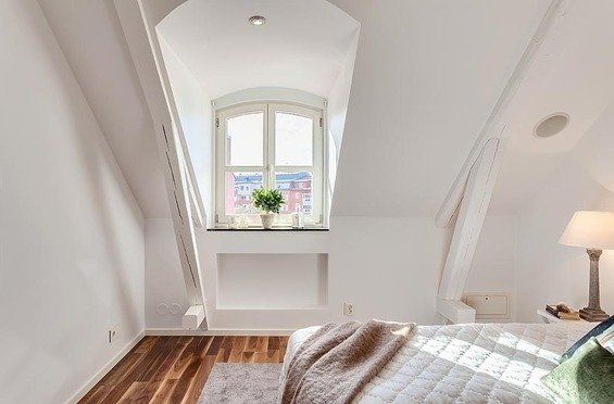 Фотография: Спальня в стиле Скандинавский, Квартира, Дома и квартиры – фото на INMYROOM