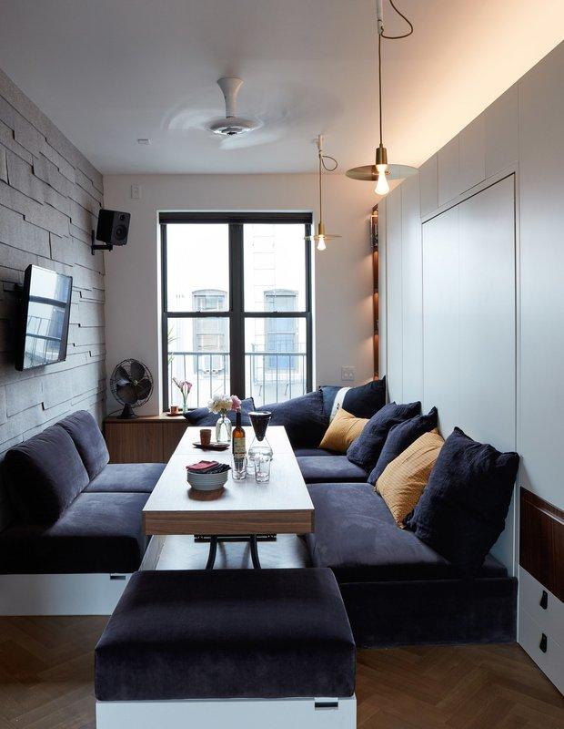 Фотография:  в стиле , Советы, Марина Пахомова, крошечная квартира, микроквартира – фото на INMYROOM