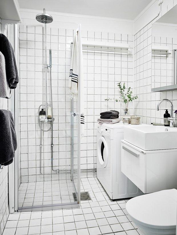 Фотография: Ванная в стиле Скандинавский, Декор интерьера, Квартира – фото на InMyRoom.ru