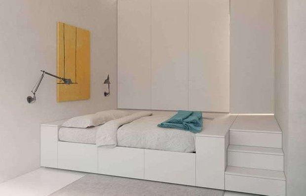 Фотография: Спальня в стиле Лофт, Скандинавский, Современный, Малогабаритная квартира, Квартира, Дома и квартиры – фото на INMYROOM