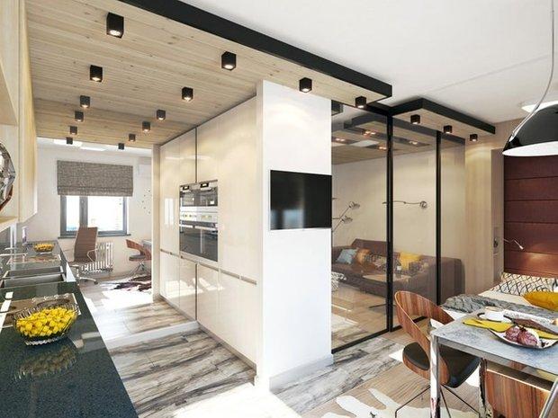 Фотография: Кухня и столовая в стиле Лофт, Современный, Декор интерьера, DIY, Малогабаритная квартира, Квартира, Белый, Бежевый, Серый – фото на INMYROOM