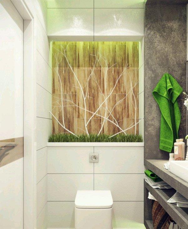 Фотография: Ванная в стиле Современный, Малогабаритная квартира, Интерьер комнат, Советы, Зеркала – фото на INMYROOM