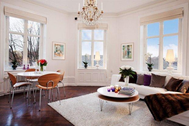 Фотография: Гостиная в стиле Скандинавский, Малогабаритная квартира, Квартира, Дома и квартиры, Минимализм – фото на INMYROOM