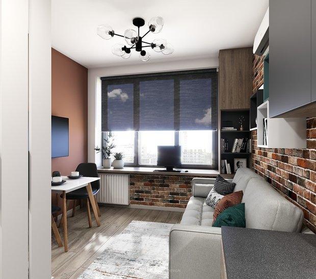 Фотография: Гостиная в стиле Современный, Квартира, Студия, Дом, Перепланировка, малогабаритка, до 40 метров, CoolaginDesign, Артем Кулагин – фото на INMYROOM