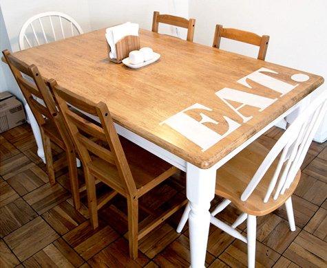 Фотография: Кухня и столовая в стиле Лофт, Декор интерьера, DIY, Мебель и свет, Переделка, Кресло, Диван, Люстра, Комод, Зеркало, Стул, Холодильник, идеи переделки старой мебели, переделка старой мебели фото – фото на INMYROOM