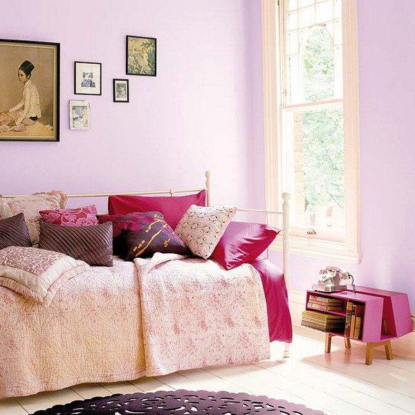 Фотография: Спальня в стиле Прованс и Кантри, Декор интерьера, Дизайн интерьера, Цвет в интерьере, Красный, Dulux, Розовый – фото на INMYROOM