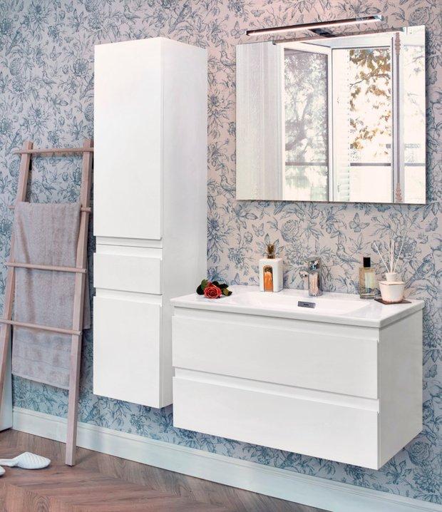 Фотография:  в стиле , Ванная, Советы, Jacob Delafon, Medeleine, подвесная мебель для ванной – фото на INMYROOM