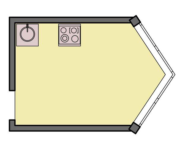 Фотография: Планировки в стиле , Кухня и столовая, Интерьер комнат, Перепланировка, kuhnya-8-kv-metrov, П-111М, И-79-99, П44т – фото на INMYROOM