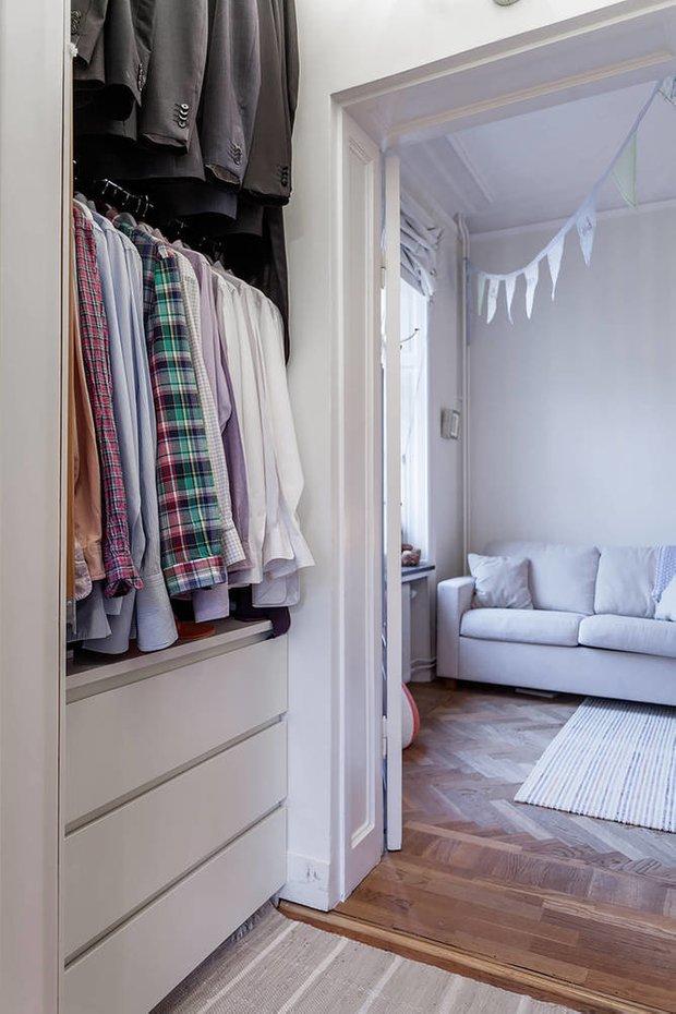 Фотография: Гостиная в стиле Минимализм, Спальня, Гардеробная, Советы – фото на INMYROOM